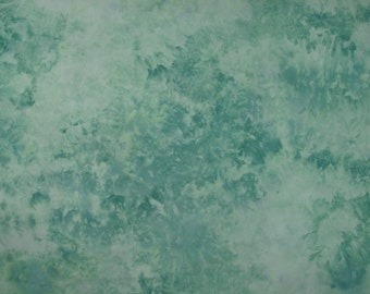 Hand Dyed  Fabric, Ice Dyed Quilt Cotton, Mermaid's Dream, Shy 2 Yards (LS) #55