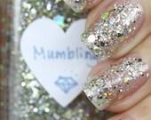 Mumbling Silver and Gold Glitter Nail Polish 15ml(.5oz)