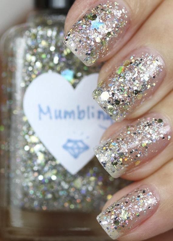 Mumbling Silver And Gold Glitter Nail Polish By Thehungryasian