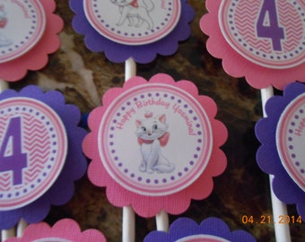 Aristocats Cupcake Toppers-Aristocats Toppers-Aristocats Birthday Decoration-Aristocats Party Decoration-Aristocats Party