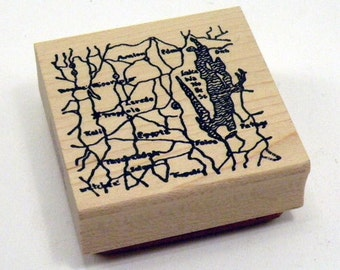Map Rubber Stamp