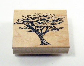 African Tree Rubber Stamp