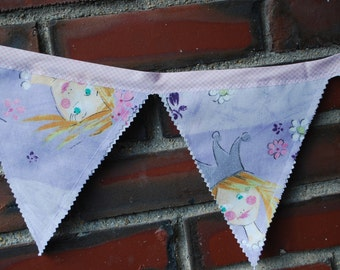On sale,Bunting Fabric Banner, Fabric Flags, Nursery Decor, Birthday Decoration, Baby Shower