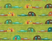 1 yd S'more Love Green Campers