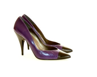 Joshua's Made in Spain - Black and Purple Heels - Size 7
