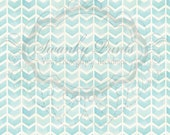 NEW ITEM 7ft x 7t Vinyl Photography Backdrop / Painted Blue Chevron