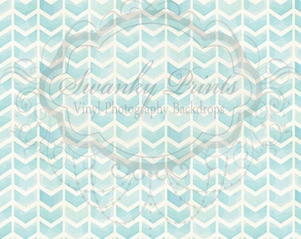 NEW ITEM 8ft x 8ft Vinyl Photography Backdrop / Painted Blue Chevron