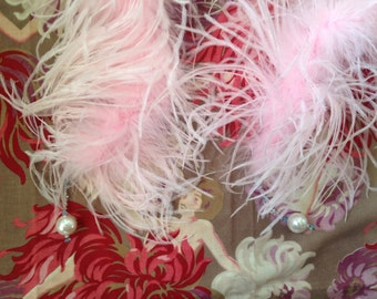 lovely light pink 1920 feathers boa reproduction