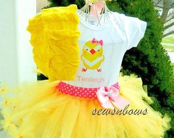 Easter tutu, Chick tutu, Babies first Easter, Easter dress, Baby chick shirt, Easter shirt, Girls Easter outfit, Girl Easter, Easter skirt