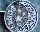 Dog Tag, Pet Tag, Custom Dog Tag, Etched, Pet ID Tag, Moon and Wishing Star