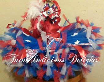 Red White and Blue 4th Of July Petti Tutu Dress~ American Girl Tutu ~ Photo Prop~ Independence Day Kids Outfit ~ Pageant Dress