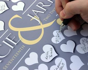 Unique Wedding Guest Book | BRIDAL GIFT POSTER | 122 Guest Sign In 20x24 | Wedding Memoir Custom Guestbook Poster | Interactive Art Print_04