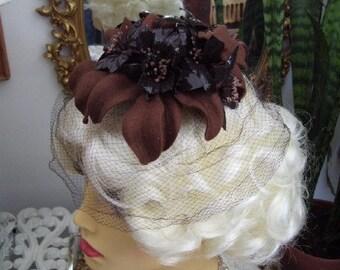 Vintage 1960s Mr. John Caprice Fascinator Whimsy Hat