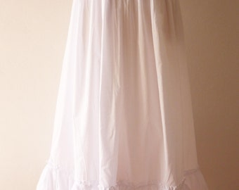 """SALE - Summer Skirt White Long Skirt Beach Skirt Retro Wedding Skirt Beach Dancing Skirt Gypsy Boho Bohemian Skirt-FREE SIZE Waist 25""""-34"""""""