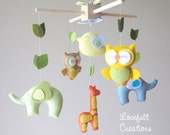 baby mobile - animals Mobile - forest Mobile - zoo Mobile - neutral Mobile