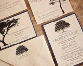 Tree Silhouette Natural Wedding Invitation by Forget Me Knot Paper {SAMPLE}
