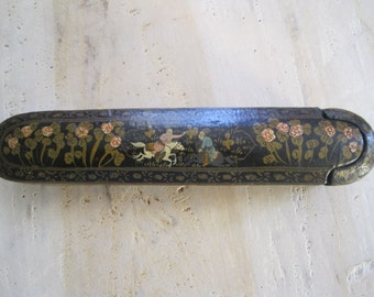 Persian qajar 1800's qalamdan paper mache pen case
