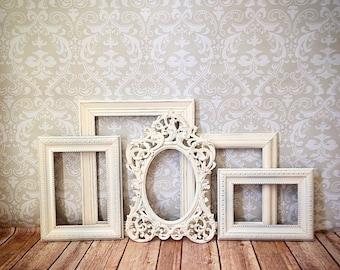 Shabby Chic PICTURE FRAMEs vintage white wedding reception nursery home PHOTO frame