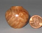 Big Leaf Maple Burl Turned Wood Miniature Pot
