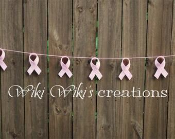 Breast Cancer Pink Ribbon Garland- READY TO SHIP!!