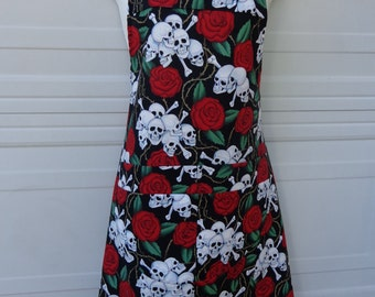Apron:Skull and Roses