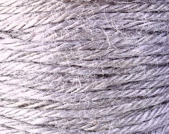 2mm Grey gray colored Hemp Cord - 10 feet - Packaging string - Macrame hemp cord - Hemp thread (1431) - Flat rate shipping