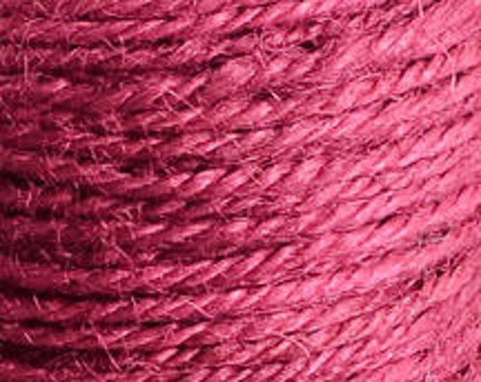 2mm raspberry pink colored Hemp Cord - 10 feet - Packaging string - Macrame hemp cord - Hemp thread (1439) - Flat rate shipping