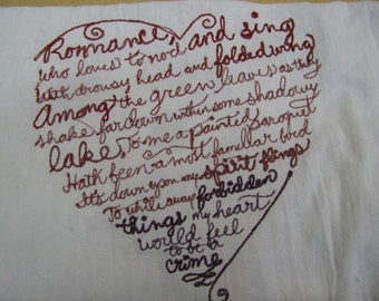 Heart Quote Towel - DISCOUNTED FOR FLAW
