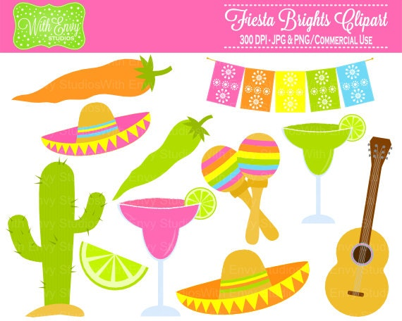 50% OFF Fiesta Clipart Party Clipart Mexican Fiesta Clip