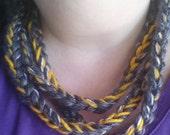 Sunshine When S/He's Gone Crochet Chain Necklace