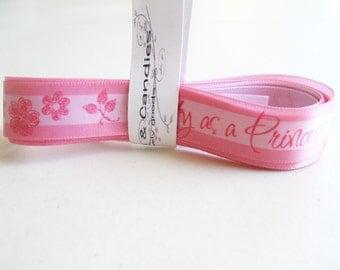 2yd Pink Satin Ribbon 1 1/2 inch wide