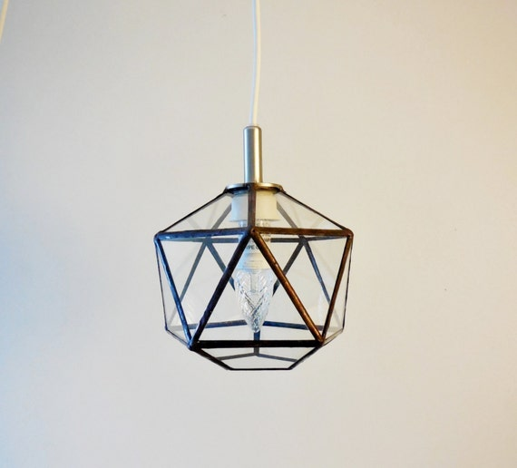 geometric glass lamp