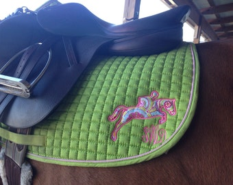 Custom Jumping Horse Saddle Pad