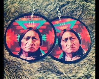 Sitting Bull earrings - Large