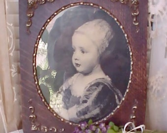 Charming Victorian Era Framed Print Of Baby Stuart, Son of Charles 1 King of England