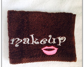 Embroideed Washcloth Makeup Remover Cloth By ClaraBellesBoutique