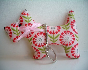 Scottie Dog Keyrings, Bag Charms - perfect present.