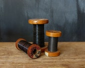 Vintage Wooden Spools of Wire - Radio repairs
