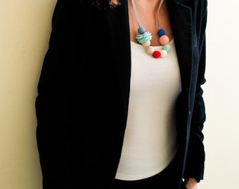 Mama Nursing Necklace/Teething Necklace by SimplyaCircle-Breastfeeding Necklace-Eco-Friendly-Multicolored-Mother's day
