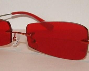 Dark red glasses 00812.