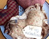 Primitive Hearts~ Valentine Decoration~ Prim~ Shabby Chic Roses