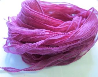 Hand dyed Ribbon , Bracelet Ribbon, Silk Ribbon  W31