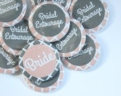 Set of 10 Modern Bridesmaid Buttons- CUSTOMIZABLE