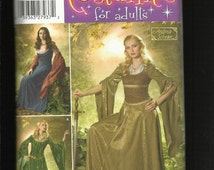 Simplicity 4940 Maid Marian Dresses Stepping Out in Sherwood Forest Sizes 20 to 26 UNCUT
