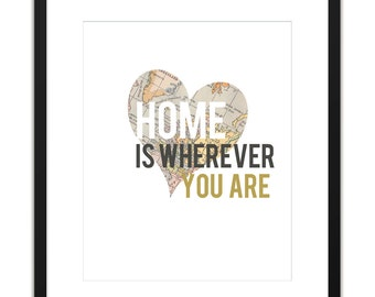 Printable Art Home is Wherever You Are 8x10