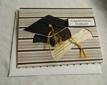 Iris Fold Graduation cap and scroll
