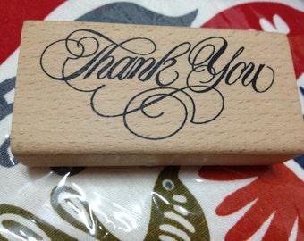 A Piece of Korean Zakka Wooden Stamp - Thank you (B)