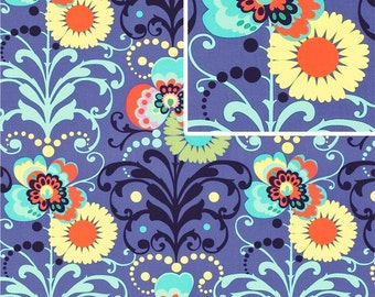 Paradise Garden in Periwinkle - Amy Butler for Freespirit Fabrics - AB49 Periwinkle Blue - 1/2 Yard