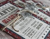 CUSTOM LISTING - Danielle - 25 - Handmade Western invitation with Bandanna Print and Full Western Print