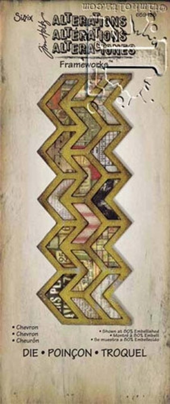 30% OFF TODAY ONLY - Tim Holtz - Alterations Frameworks Die - Chevron (659428)